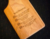 IRISH BLESSING Cutting Board - Paddle Style - 2  styles