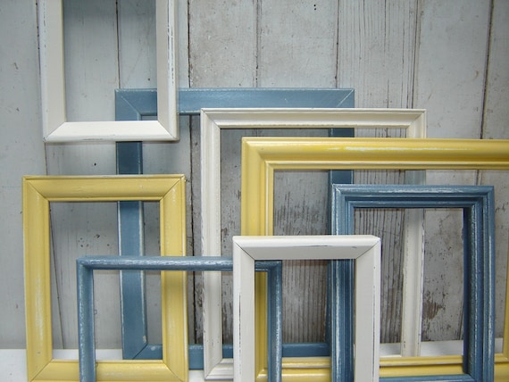 painted frame set collection 8 picture frames yellow slate. Black Bedroom Furniture Sets. Home Design Ideas