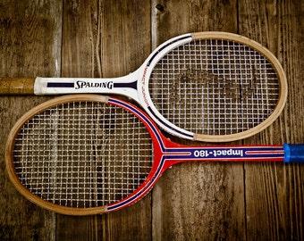Vintage Tennis Rackets on wood Photo Print,Decorating Ideas, Wall Decor, Wall Art,  Kids Room, Nursery Ideas, Gift Ideas,