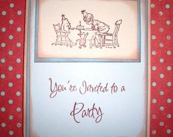 Winnie the Pooh Invitation Card - Birthday - Stationery -