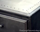 Custom Order Restoration Hardware Inspired Faux Zinc Dresser / Tv Stand / Buffet / Changing Table