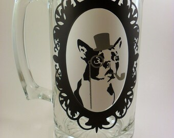 Boston Terrier Beer Mug