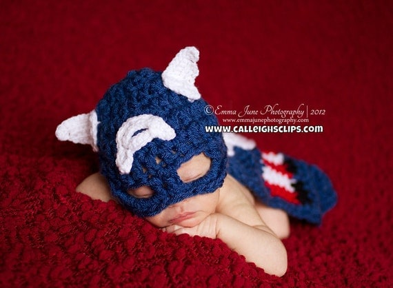 Instant Download  Crochet Pattern - No. 57 -American Crusader - Cuddle Critter Cape Set