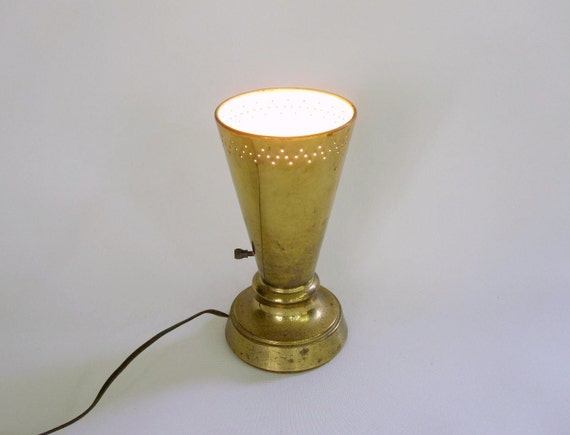 Mid Century Lamp - Brass Up Light or Table Lamp