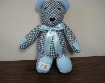 Personalized Bear- keepsake bear for Lindsay