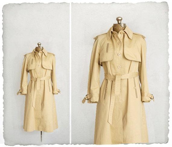 vintage inspector trench coat