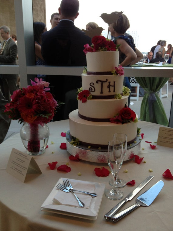 "Wedding Cake Stand 16 inch ""Floral Leaf"""