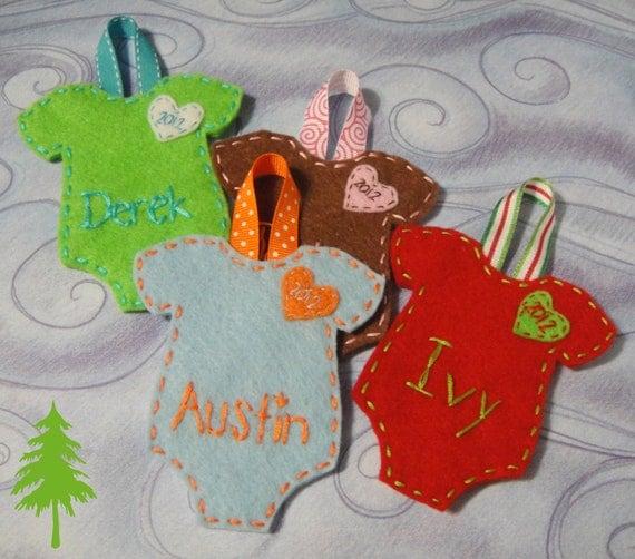 Homemade Christmas Ornaments For Babies : Items similar to handmade baby christmas ornament s
