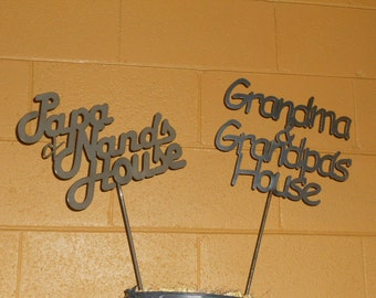 Grandma & Grandpa House Garden Stake