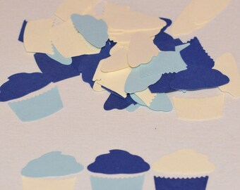 Cupcake Die Cuts Martha Stewart Blue Cream Birthday Party Confetti Scrapbooking Embellishments