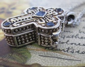 Vintage Silver Cross: Opens Serenity Prayer Inside