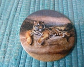 Vintage Pocket Mirror - Tiger