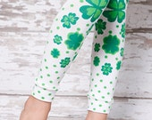 Leg Warmers - Green Clover Shamrock St Patricks Day