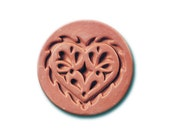 Imported Lacey Heart Ceramic Cookie and Craft Stamp