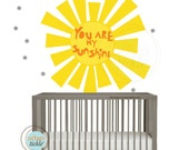 Wall Decals for Children, Sunshine, More custom options available, Nursery Stickers, Newborn Decor, Baby Room Ideas