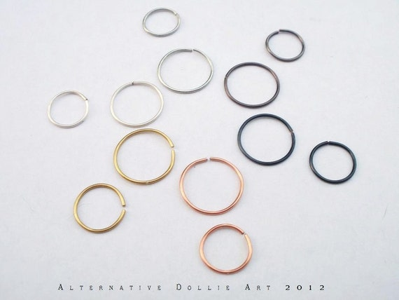 Endless Nose Hoop --- 20ga --- Choose Your Color and Size