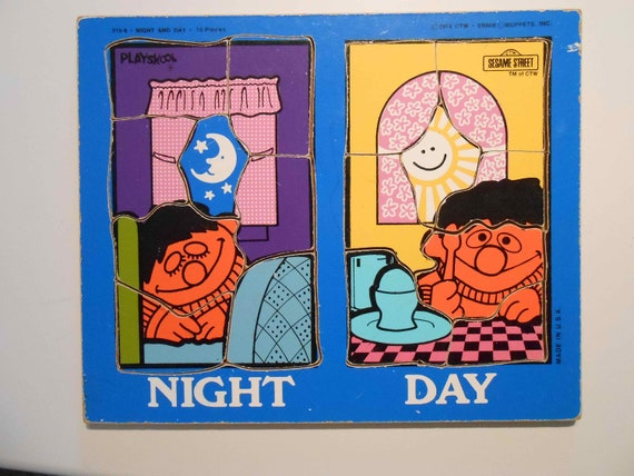 Sesame Street Muppets Ernie Playskool Puzzle 1974