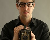 1950s mens black frames with chrome tips // mid century german frames // Metzler-Twec