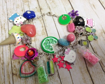Kitty Cat Upcycled/Recycled Charm Bracelet/Anklet