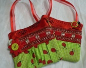 Christmas Gift Card Holders to hang on tree or anywhere - Ladybugs
