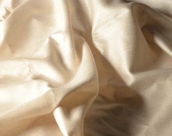 "Handwoven Eri Silk Fabric in natural off-white color. Organic pure silk fabric by the yard. Wild Peace Silk. Luxury Silk. 44"" / 110 cm wide."