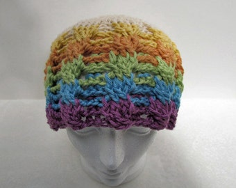 PDF Crochet Pattern - Rainbow Cables Hat & Scarf (permission to sell finished items) - Instant Download