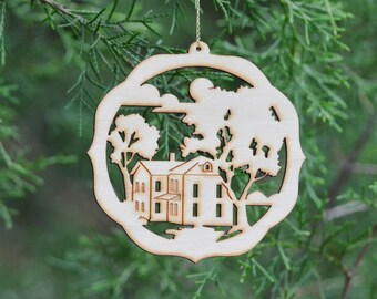 Natural Wood Home Sweet Home Ornament