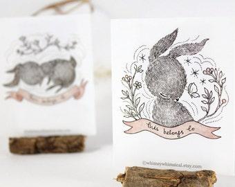 12 Bookplates - Rabbit