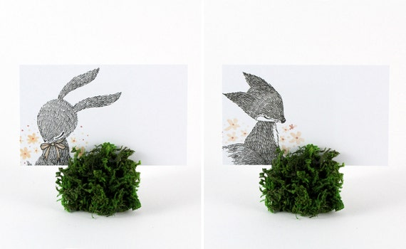 12 Mini Place Cards - Happy Spring