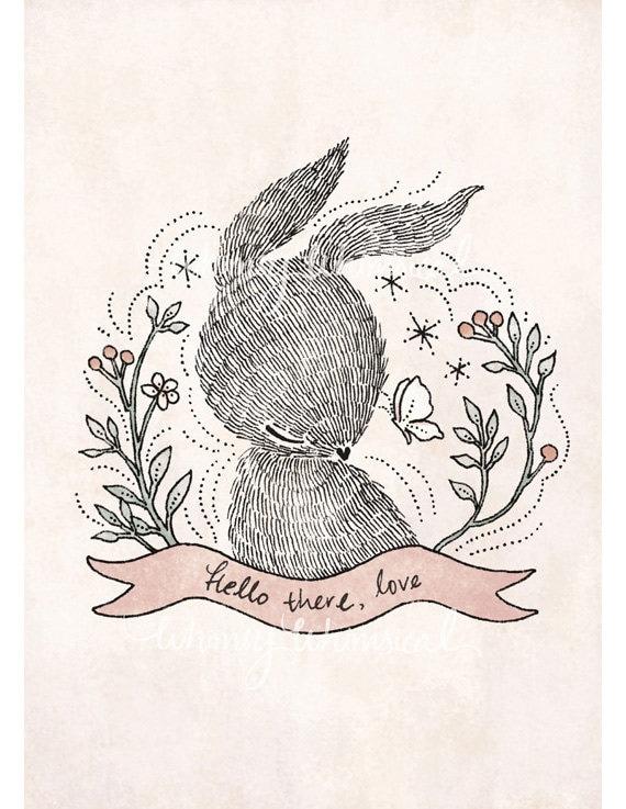 Hello there, love - 5x7 Print