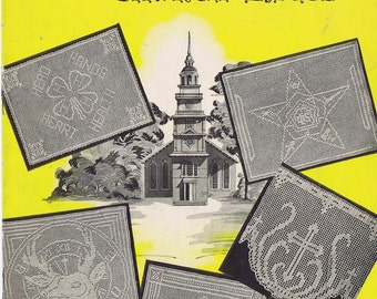 1940s Church Lace and Emblems Filet Crochet Pattern EBook