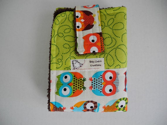 owl travel changing mat diaper wallet