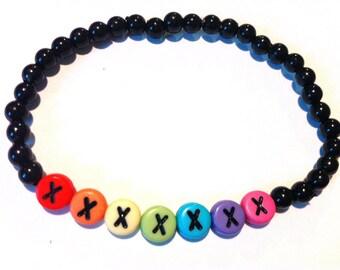 RAINBOW KISSES Beaded Bracelet