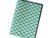 PASSPORT COVER - Teal and Cream Scallops