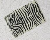 Dollhouse Miniature Zebra Pattern Rug in One Twelfth Scale