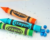 Crayon Candy Tube Party Favors