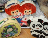 Vintage Radio Novelty Transistor 80s girls or boys Ragggedy Ann Kawaii Panda and Cabbage patch Kids