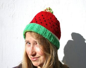 Knit Watermelon Hat