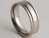 Mens Titanium Ring , Wedding Band , Adonis Band with Comfort Fit