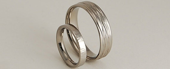 Wedding Bands , Titanium Rings , The Sphinx and Aphrodite Bands with Comfort Fit