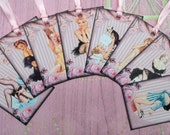 Glamourous Pin Up Girls Gift Tags set of 8 No.388
