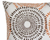 Decorative Throw Pillow Cover Dusk Orange Cushion Cover Accent Pillow 18 x 18 inches - Sunburst Spice