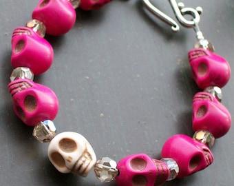 Day of the Dead Sugar Skull Bracelet Halloween jewelry