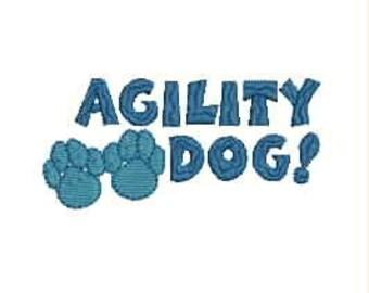 Dog Agility Tee Shirt - Agility Dog with Paw Prints