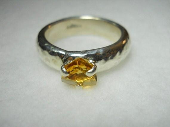 Citrine Gemstone Men's Ring