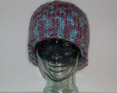 Multi-Colored Wool Knitted Hat