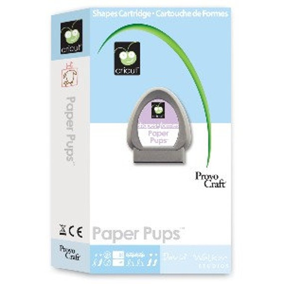 paper pups cricut cartridge Cricut 29-0224 paper pups cartridge tweet shape cartridge for use with a cricut cutting machine variety of whimsical dog images and dog-themed phrases.