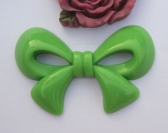 Large bowknot--5pc Bud Green bow bowknot charms--56x37mm