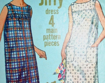 Vintage 60s Simple to Sew Dress Simplicity 6531 Size 10 Bust 31