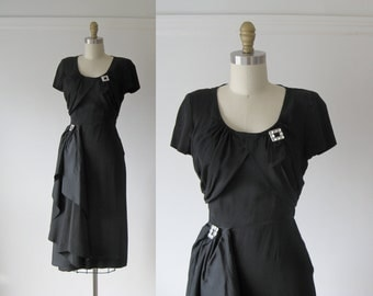 vintage 1940s cocktail dress / 40s dress